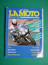 LA MOTO Dicembre 1988 BMW R100RS Morini New York Yamaha FZR 1000 + inserto