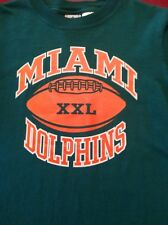 NFL MIAMI DOLPHINS Long Sleeve Shirt Size Youth L 14-16 100% Cotton EUC