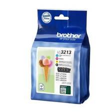 4 x Brother Original OEM Inkjet Cartridges LC3213 Inks CMYK - Value Pack