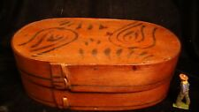 19th Century Bentwood Pantry Box w. Original Decoration & Lace Construction #22