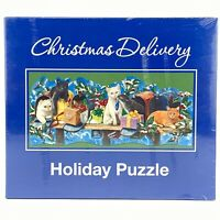 Current 1000 Pieces Jigsaw Puzzle Christmas Delivery Holiday Cats in Mailboxes