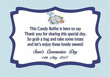 Personalised Boy Communion Candy Buffet Table Sign Design 1