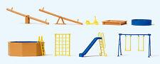 Preiser 17351 Giochi per parco bambini e giardino, Kit di costruzione, H0