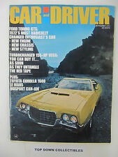 Car & Driver Magazine   September  1971    Classic Test Of Endurance--LeMans