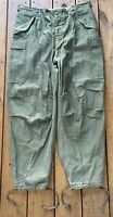 Vintage 50s US Army Military Olive Trousers Shell Field M-1951 Sz M Reg 1952
