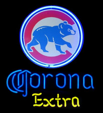 "Chicago Cubs Corona Extra Neon Sign 20""x16"" Beer Light Lamp Bar Display Windows"