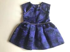 Used 1 time Toddler Girls Purple POLKA DOTS Sateen Party Dress sz 3T Cat & Jack