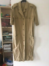 Vintage mustard military dress size 38