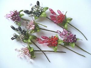 3 Crystal flower sprays 60 mm 1 LEFT