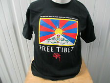 VINTAGE FREE TIBET BLACK LARGE GILDAN T-SHIRT PRE-OWNED CONCERT BEASTIE BOYS DAL