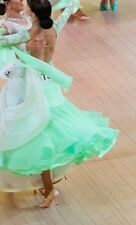 Ballroom dress size 6 in DSI peppermint green made with Swarovski crystals