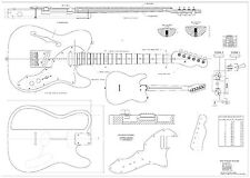 Fender Tele 69   electric  GUITAR PLANS  - Full scale   detailed