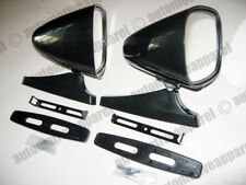 CLASSIC STYLE BLACK SPORT MIRRORS VINTIQUE MUSCLECAR RESTOMOD HOTROD KIT