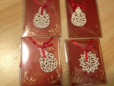 Lot 4 Lenox Gift Charms Tree Ornaments Snowman Snowflake New