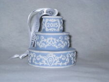 Wedgwood 2015 Our First Christmas Together Ornament-Blue/White JasperWare - Nib