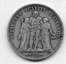5 Franc 1877 A  argent TB Hercule