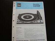 Original Service Manual  Dual 1215
