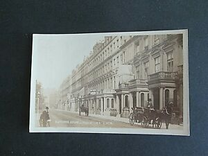 CLEVELAND SQUARE, BAYSWATER, LONDON -  A VINTAGE REAL PHOTOGRAPHIC CARD
