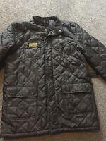 Barbour Mens Black Quilted Jacket Coat Size Medium