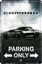 Camaro Parking Only Novelty by Hangtime Metal sign 8 x 12 inches