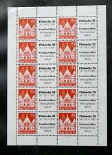 TIMBRES D'ALLEMAGNE : RFA FEUILLE COMPLETE PHILATELIA '81 FRANCFORT - NEUF (*)