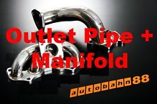 Fit Starlet EP82 EP91 Turbo Outlet Dump Pipe + Stainless Exhaust Manifold Header