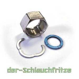 """Anschluss Set 3/8"""" - 1 1/2"""" Edelstahlwellrohr DN8 - DN32 Verschraubung Sanitär"""