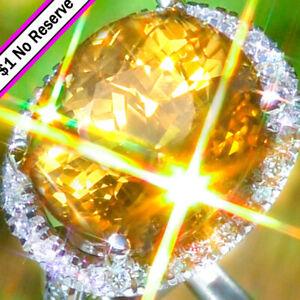 Aquamarine Ring 14K GOLD 17.63ctw Diamond Aquamarine HUGE ESTATE Cocktail Ring ↩