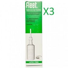 3 x Cleen Fleet Ready To Use 21.4g Latex Free Enema
