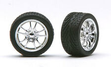 Pegasus 1281 x 1/24-1/25 Chrome M5's Rims w/Tires (4)