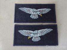 Pair of RAF Royal Air Force Eagle Cloth Badges / Patches