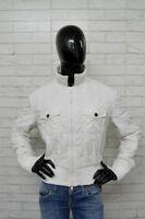 Piumino Donna ARMANI JEANS Taglia Size 50 Bianco Giacca Jacket Woman White