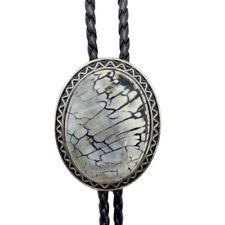 Stripes Granite Stone Mens BOLO Tie Wedding Necklace Vintage Western CB