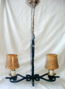 1950's Wrought Iron Ceiling light (Vintage French)