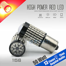 2X 1156 50W High Power Chip LED Red Turn Signal Brake Tail Lights Bulbs