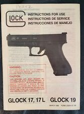 March 1988 Glock 17 17L 19 Pistol Instructions for Use Manual Genuine Oem