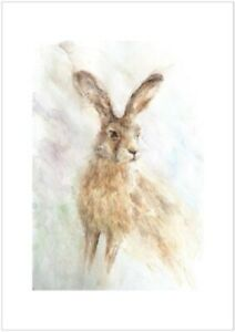 """LIMITED EDITION PRINT OF MY ORIGINAL WATERCOLOUR  """"SITTING HARE"""""""
