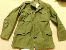 US ARMY COLD WEATHER FILED JACKET OG 107 SIZE SMALL-LONG