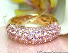 FARBENPRACHT: Feiner Rosa Saphir Pavé Ring, 3.21 ct. Gelbgold 585 2.100€