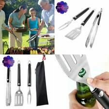 Unicook Grill Tool Set 3 Pack, Stainless Steel Grilling Utensils Spatula Tong an
