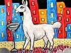 Martini Llama Art Print 5 x 7 Farm Collectible Artist Kimberly Helgeson KSams