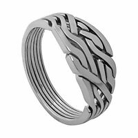 Puzzle Ring - 6 Bands MAZE Loopy Silver Sterling 925 - Woman - Man - NEW !!!