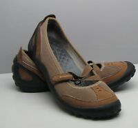 Clarks Privo Brown Leather SHOES Woman's 6.5 M  Slip On Flats