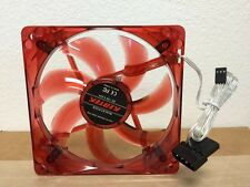 120MM 12CM PC System Computer Case Fan Red LED Light 3/4 Pin Wire Screws Silent