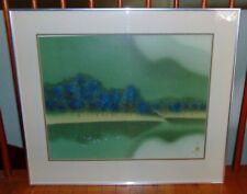 David Lee Signed Mountain Lake Landscape Artist Proof Print A/P RARE Lithograph