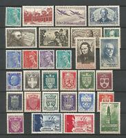 FRANCE ANNEE COMPLETE 1942, N° 538/567 Neufs** NSC. Cote 97€