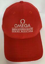 OMEGA Watches Baseball Cap - Golf European Masters Crans Montana - Red/White