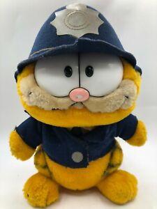 Vintage 1981 R Dakin & Co Garfield Cat Police Cop Cat Plush Stuffed Toy Animal