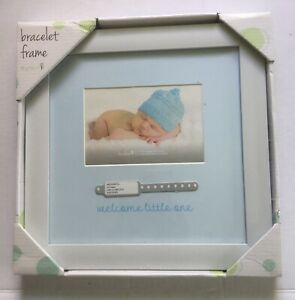 "Hospital Baby Bracelet Frame 12""x12"" Boy"