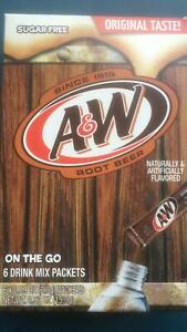 A&W Root Beer Drink Sachet Mix (x6) 15g Imported from the USA